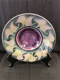 $89 Beautiful glazed bowl, vibrant colors and a perfect addition to your decor!