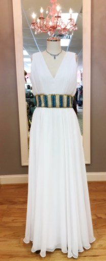 $69 Sz 10 White Gown