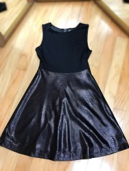 $69 Sz S Black Textured Dress