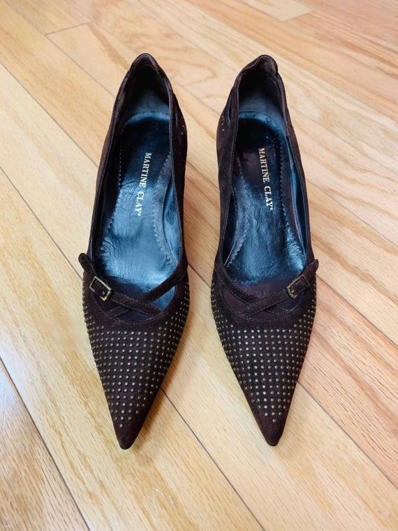 $25 size 36 EU Martine Clay kitten heels