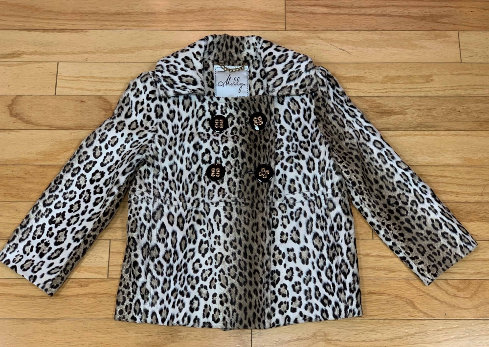 $89 Sz 2 Milly faux animal print jacket
