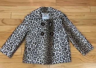 $89 Sz 2 Milly faux animal print jacket