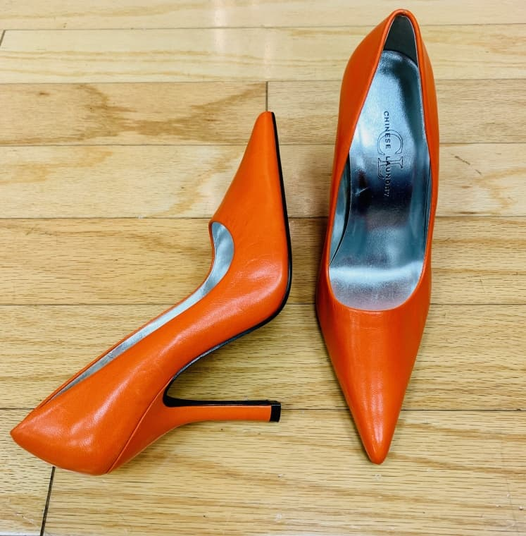Orange Chinese Laundry stiletto Size 8 $20