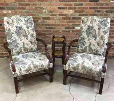 Chairs $195 each Accent table $50