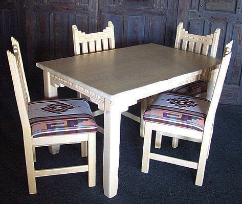 best fabric for chair seats swing mauritius new mexico, southwest style dining set, tables, chairs, china cabinets