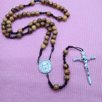 Olive Wood With Nail Crucifix
