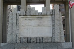 Marble relief in granite