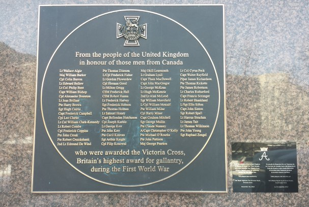 Plaque prominently displayed on British High Commission