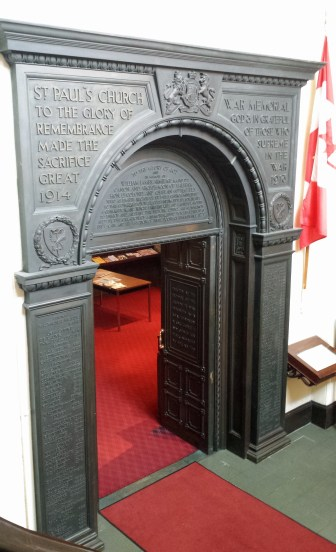 Memorial Arch leading from narthex to nave