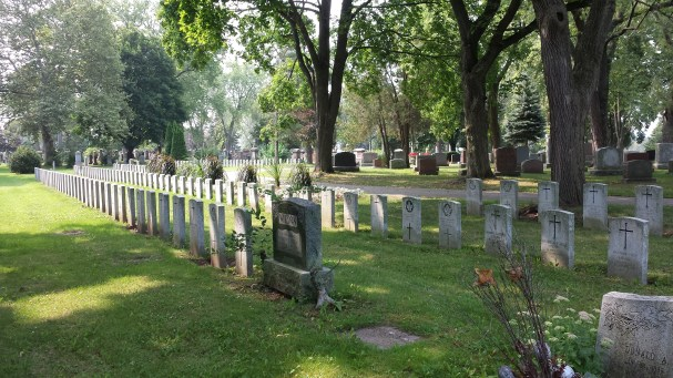 Rows of Commonwealth War Graves