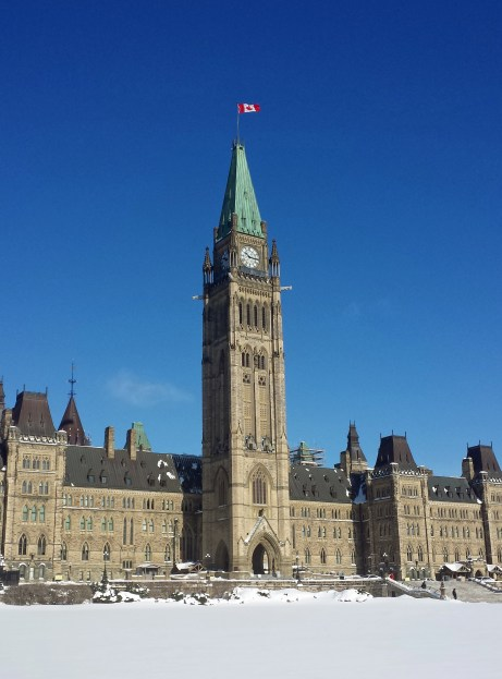 Centre Block on Parliament Hill houses the Senate and House of Commons