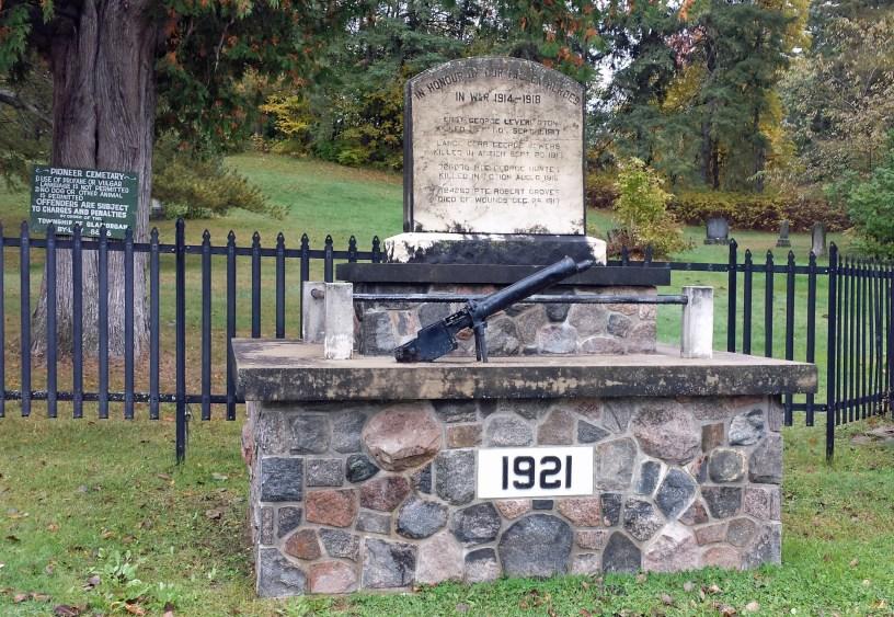 Gooderham cenotaph displays a trophy of war