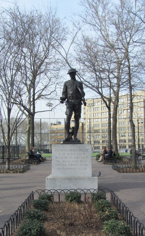 Clinton Doughboy in NYC remembers In Flanders Fields