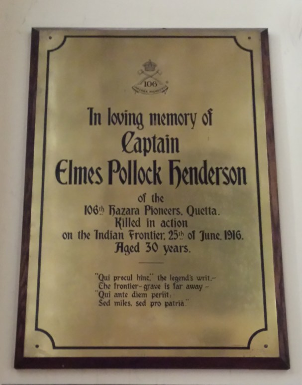 Memorial to Elmes Pollock Henderson in St James Cathedral