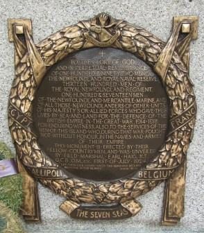 Dedication of Newfoundland National War Memorial
