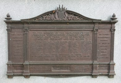 Names of Canadian Westinghouse employees killed in WW1