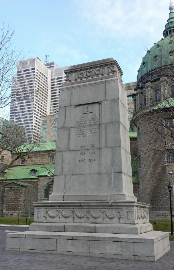 Cenotaph in Place du Canada, Montreal