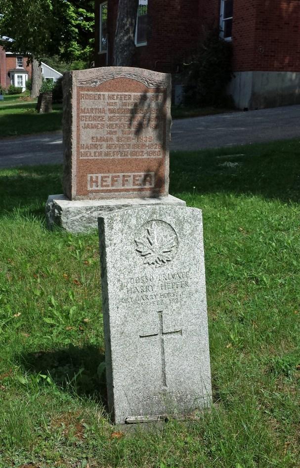Harry Heffer, Cherry Valley Cemetery, Prince Edward County