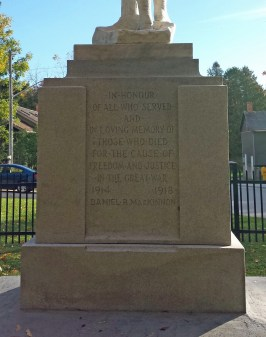 Priceville Cenotaph in memory of those who died for the cause of freedom and justice