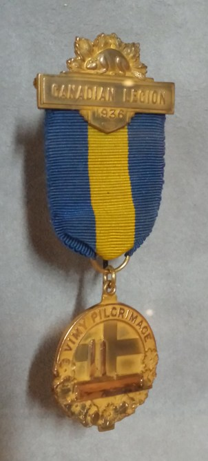 Vimy Pilgrimage medal worn by Edward VIII