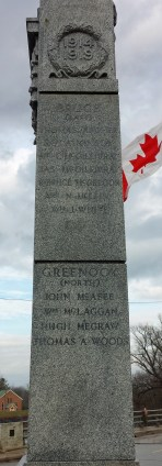 Names from Bruce and Greenock Townships