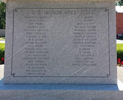 Honor Roll includes nursing sister Gertrude Andrews