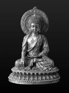 Image of the Buddha depicted touching the earth at the moment of his awakening
