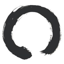 Image of an enso, or Zen calligraphic circle.