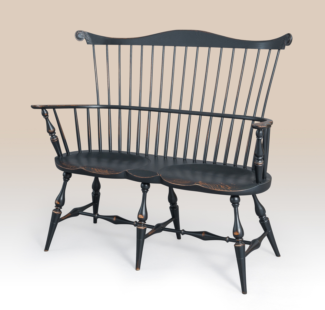 Windsor Chairs Black Historical New York Windsor Settee