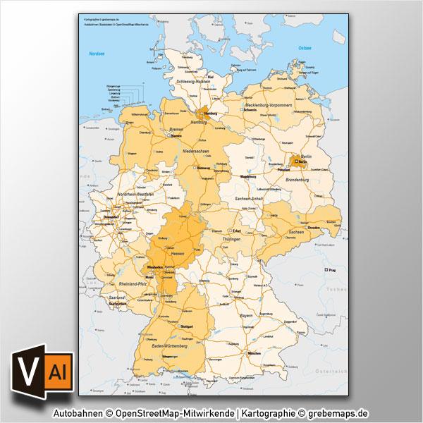 Länder deutschland angrenzende stumme karte Karte Deutschland