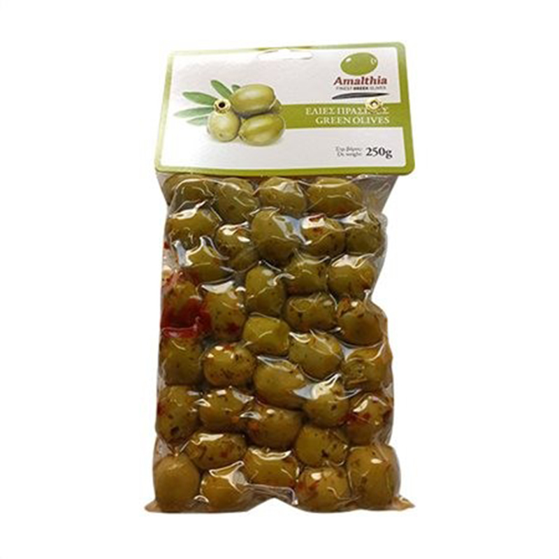 SPICED GREEN OLIVES, FROM ETOLINKON