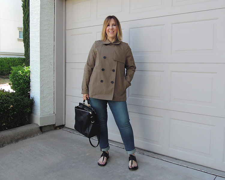 outfit everlane swing trench review