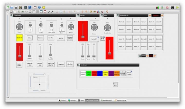 Consolle Virtuale di QLC+