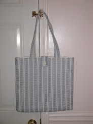 Stipes quilted tote