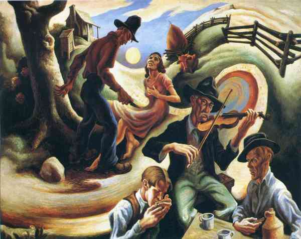 Jealous Lover Thomas Hart Benton