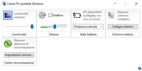 Centro PC portatile