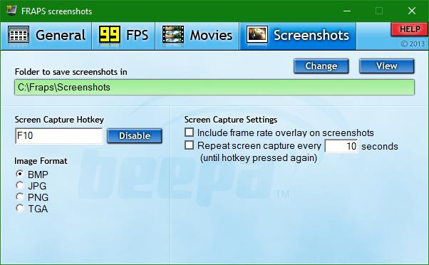 """Scegliendo la voce """"Include frame rate overlay on screenshots"""" è possibile mostrare gli fps al momento dello screenshot"""