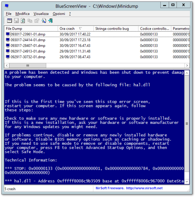 2017 09 30 17 54 18 BlueScreenView C  Windows Minidump | GrecTech