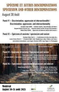 Spécisme et autres discriminations | Speciesism and other discriminations (CRÉ-GRÉEA)