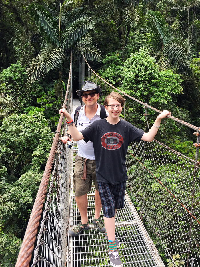 Family Travel: Hanging Bridges, Costa Rica