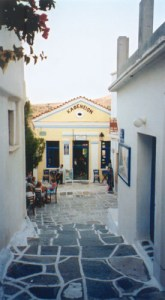 old coffee shop in Lefkes of Paros