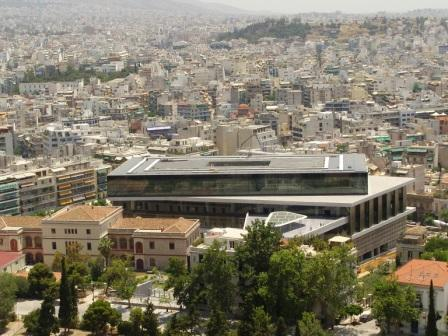New Acropolis museum viewed from Acropolis