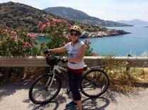 Me on my heavy slow bike. Boo!