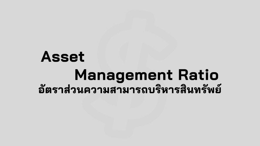 Assets Management Ratio คือ อัตราส่วนความสามารถในการบริหารสินทรัพย์ Financial Ratios