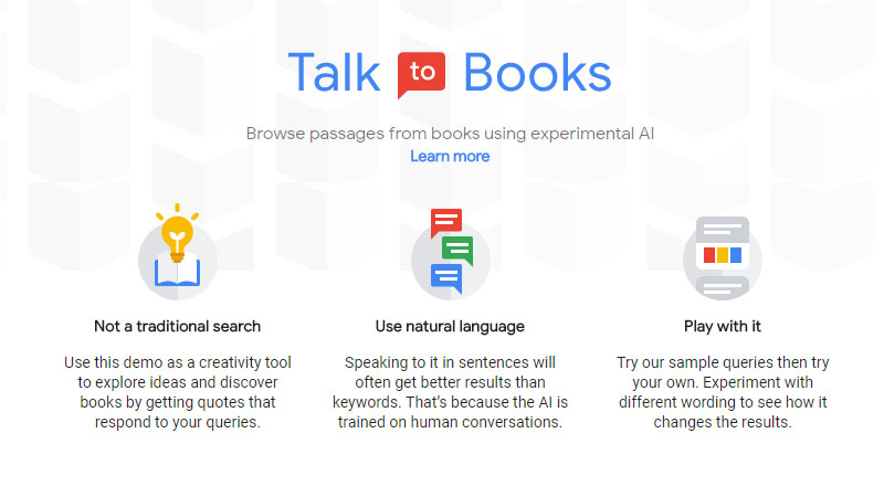 Google talk to book หาหนังสือด้วย google
