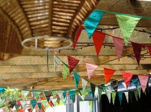 Quirky restaurant bunting