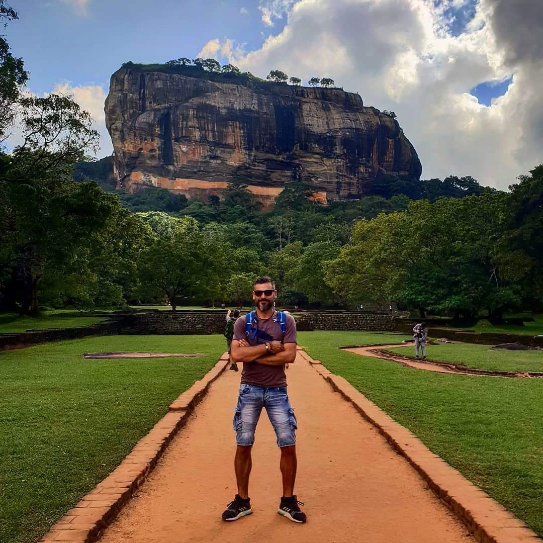 View of the Lion Rock in Sri Lanka