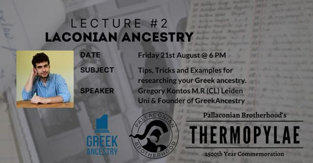 """Lakonian Ancestry"" on Aug. 21st – Australia"