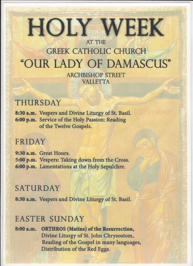 Holy Week at Our Lady of Damascus