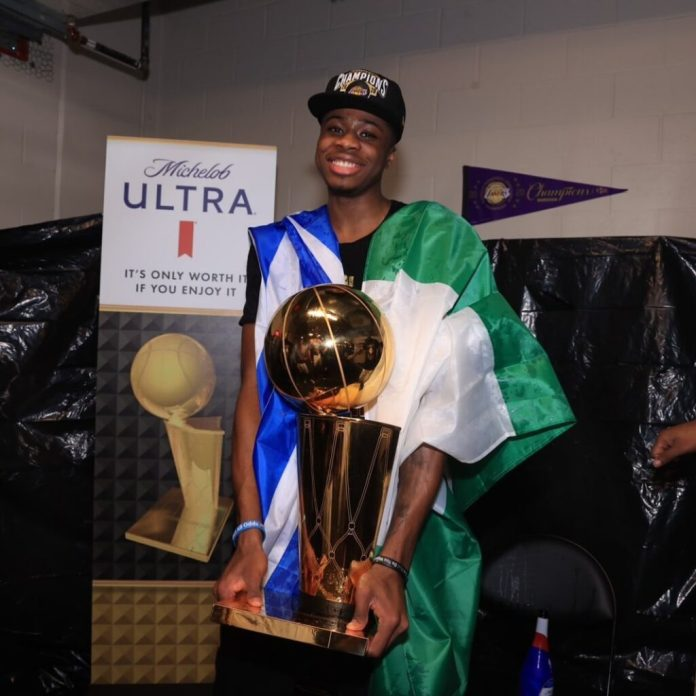 Kostas Antetokounmpo arrives in Athens after the 2020 Lakers NBA Championship
